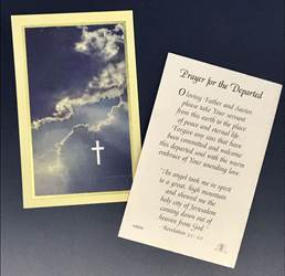 Prayer for the Departed Prayer Cards PK100
