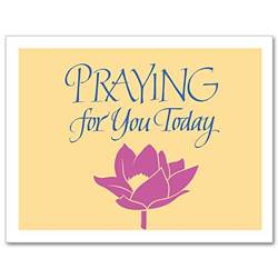Praying for You Today Notecards, Pkg/12