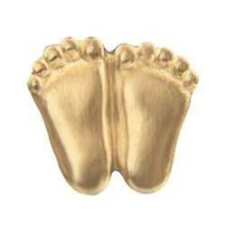 Precious Feet, Gold Lapel Pin