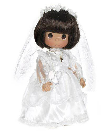 Precious Moments Brunette First Communion Doll