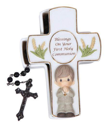 *DISC* Precious Moments Cross Box with Rosary - PT10090
