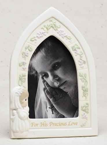 Precious Moments First Communion Girl Frame girl frame, first communion frame, holy communion, picture frame, photo frame, holy eucharist gift,  porcelain frame,61736