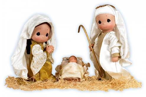 Precious Moments Holy Family Doll Set