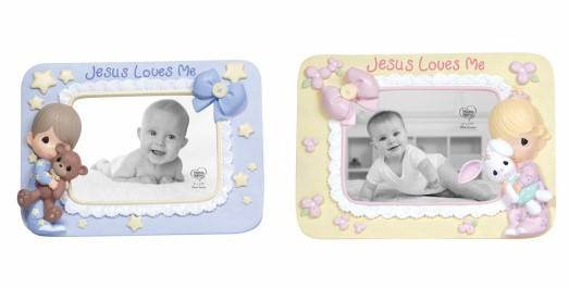 Precious Moments Jesus Loves Me Frame precious moments, boy,baptism gift, new baby gift, girl, pink frame, baby girl, birthday gift,  porcelain figure, frame, gift, 132401