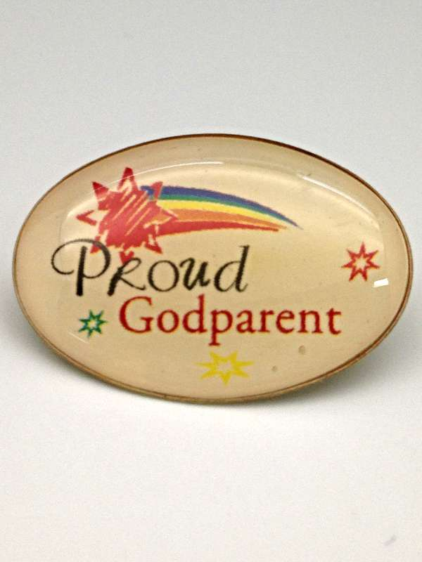 Proud Godparent Lapel Pin