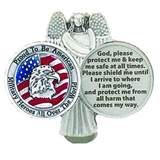 Proud to be an American Enamel Auto Visor Clip