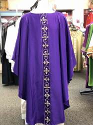 Purple Chasuble chasuble, church goods, textiles, church apparal, Houssard, Arte Grosse,
