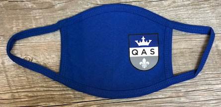 QAS 3-Ply Reusable Face Mask, Royal