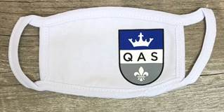 QAS Youth Face Mask, White