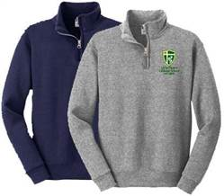 Quarter Zip Sweatshirt with Little Flower School Logo