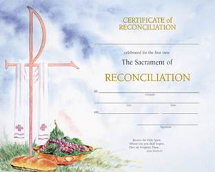 Watercolor Reconciliation Certificate