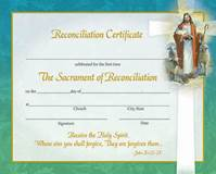 Reconciliation Certificate 8x10, Box of 50