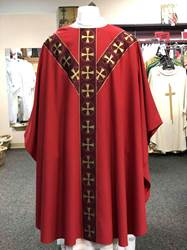 Red Chi-Rho Chasuble by Arte Grosse