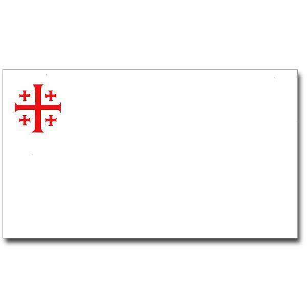 Red Jerusalem Cross Notecards, Pkg/25