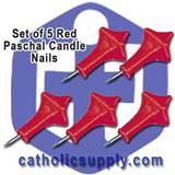 Red Paschal Nails Set/5