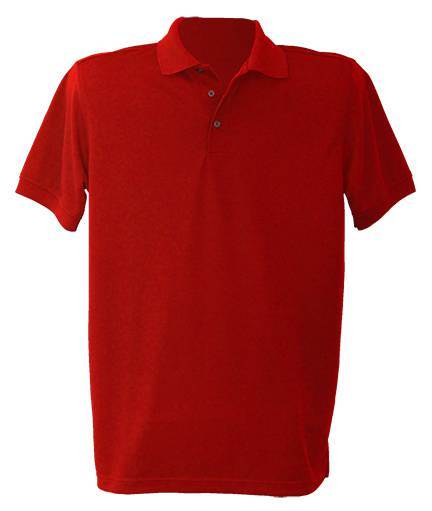 Unisex Red Performance Knit Polo *WHILE SUPPLIES LAST*