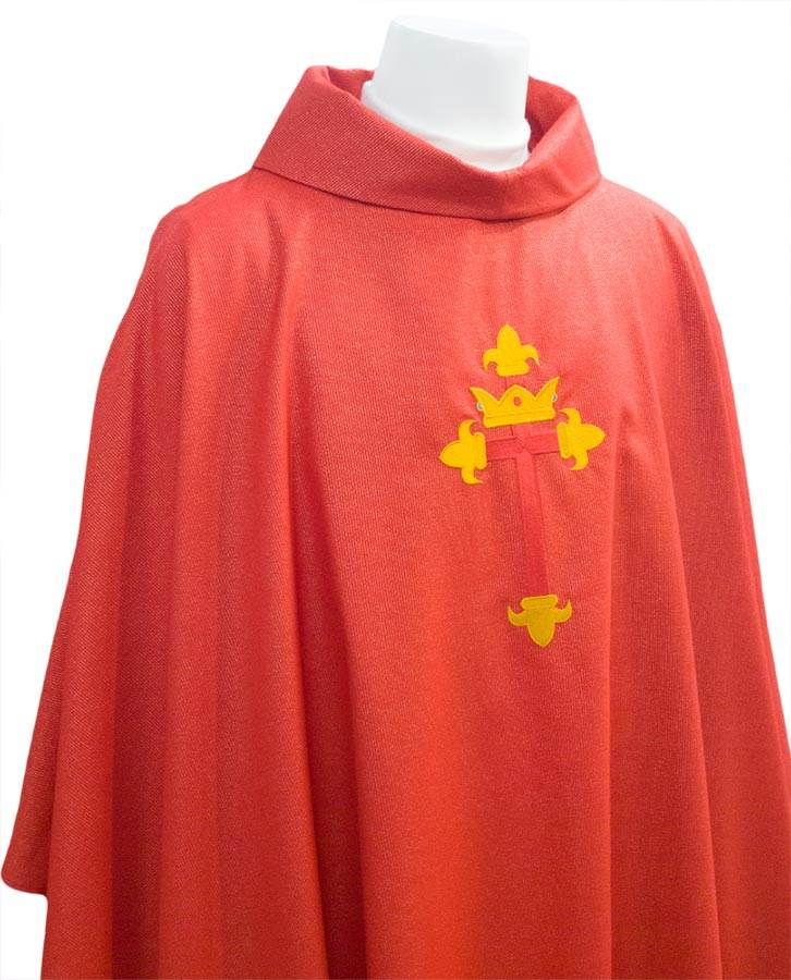 "Red St. Louis Diocese Chasuble 53"" Length"