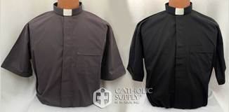 Reliant Tab Collar Clergy Shirt, Short Sleeve