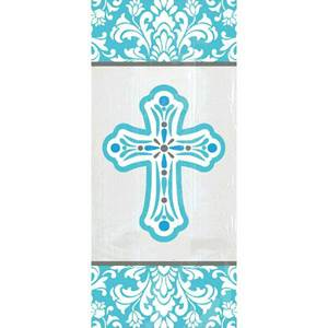 Religious Small Party Bags - Blue Cross, 20/pkg