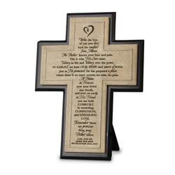 "Remember Cast Stone 10"" Cross"