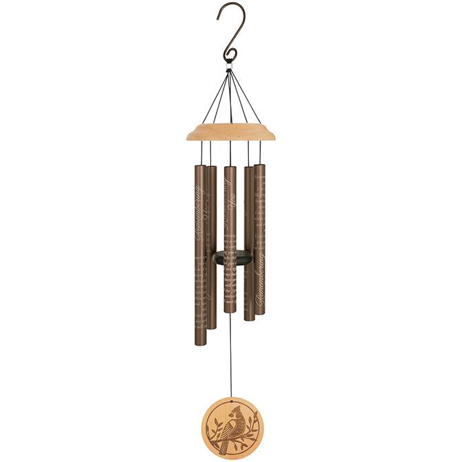 """Remembering You"" 30"" Wood Sonnet Chimes"