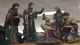 Resin Holy Family And Three Kings