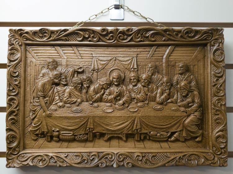 Resin Wood Last Supper