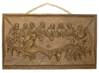 "Resin Wood Last Supper Wall Hanging 10.5"" X 5.5"""