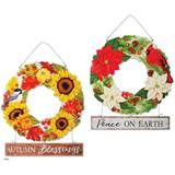 Reversible Fall/Christmas Blessing Wreath