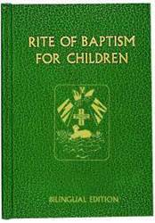 Rite of Baptism for Children (BILINGUAL EDITION) baptism, ritual editions, rite of baptism, children, church goods, sacramental book, 138/22