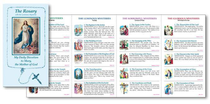 picture regarding Luminous Mysteries of the Rosary Printable referred to as Rosary Pamphlet with the Luminous Mysteries