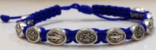 Royal Blue/Silver Miraculous Bracelet favors, bracelet, blessing bracelet, medjugorje bracelet, miraculous bracelet, colored bracelet, handmade bracelets, girl gift, boy gift, sacramental gift, healing gift, prayer gift, first communion gift, reconciliation gift, confirmation gift, graduation gift, quantity discounts, benedict bracelet
