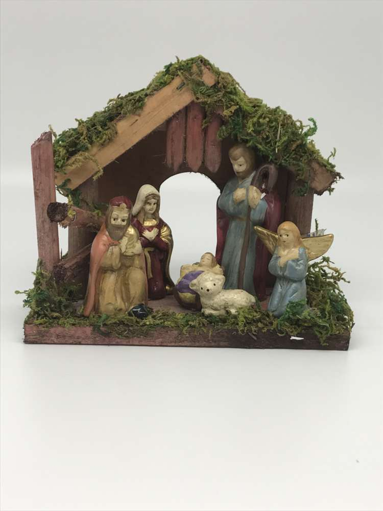 Rustic Nativity with Stable