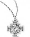 "St. Francis / St. Anthony Sterling Silver Medal on 18"" Chain"