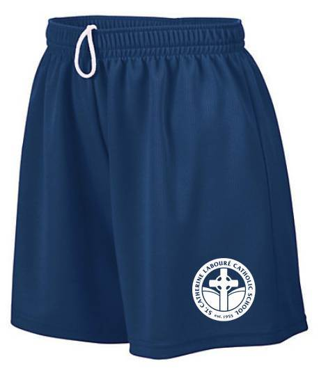 SCL Athletic Navy Gym Short, Moisture Wicking Mesh