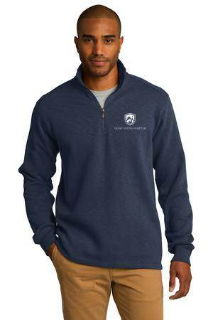 Custom Port Authority Slub Fleece 1/4-Zip Pullover