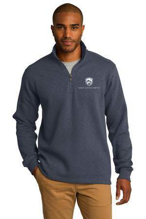 Custom Port Authority Slub Fleece 1/4-Zip Pullover - CS-F295
