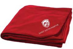 SJM Logo Stadium Blanket, Red