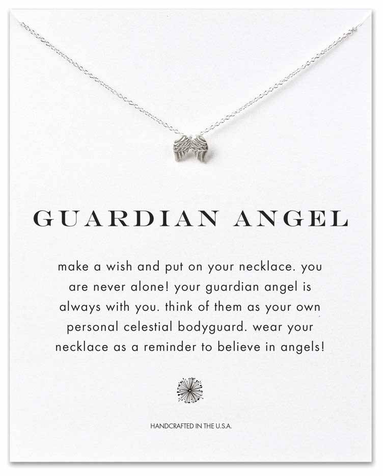 Guardian Angel Wings Necklace, Sterling Silver angel necklace, angel wing necklace, guardian angel jewelry, guardian angel necklace, angel jewelry, angel keepsake, memorial gift, angel wings gift, remember loved one, death gift, grief gift, angels among us