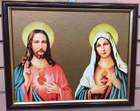 Sacred Heart of Jesus & Immaculate Heart of Mary Framed Picture