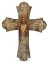 Sacred Heart of Jesus Vintage Wood Cross
