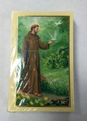 Saint Francis Of Assisi Prayer Card, Spanish PACK OF 100