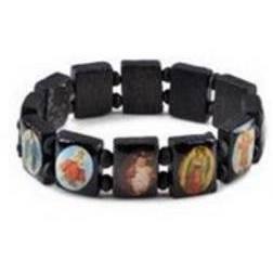 Saints Bracelet, Black Wood
