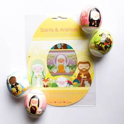 Saints and Animals Easter Egg Wraps