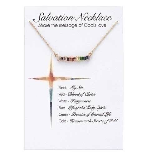 "Salvation Bar Gold 16"" Necklace with 2"" Extender"