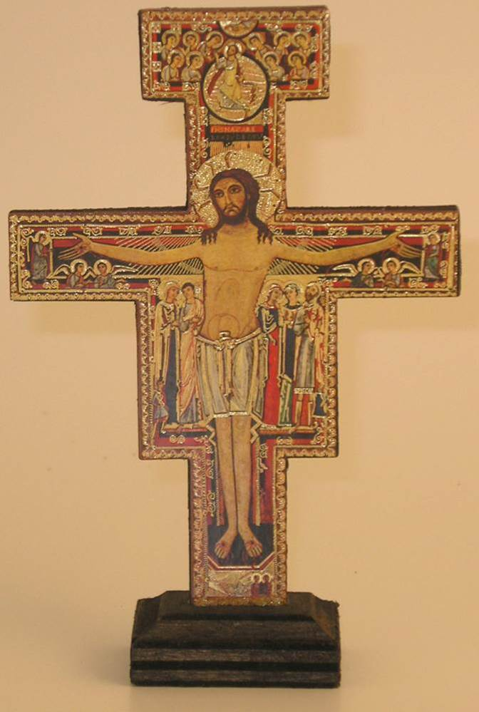 San Damiano Cross with Base  cross, italian cross, san damiano cross, cross with base
