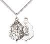 "Scapular Sterling Silver Medal on 18"" Chain"