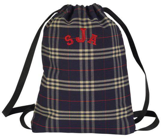 School Plaid Slim Tote Bag