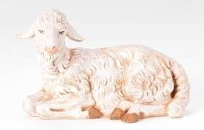 "Seated Sheep for 12"" Fontanini Nativity"