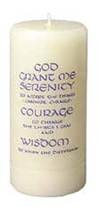 Serenity Prayer 3 x 7 Ivory Pillar Candle